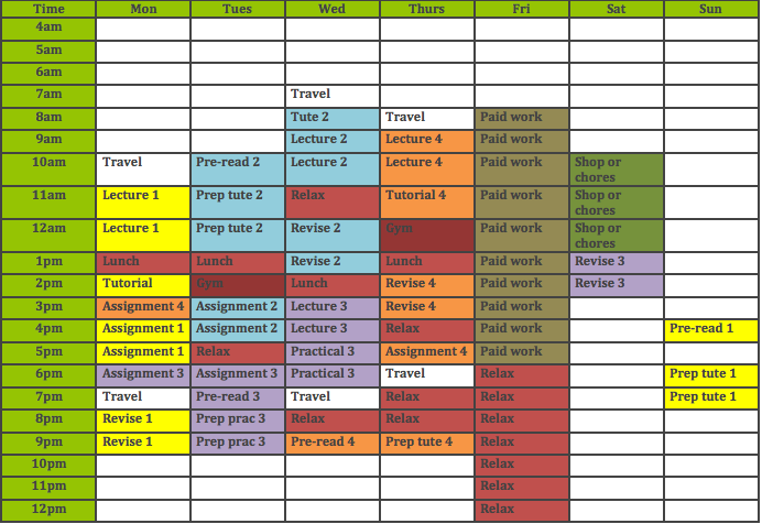 Filled timetable final image
